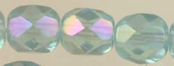 Fire Polished Glass Beads 6mm - Light Aquamarine AB