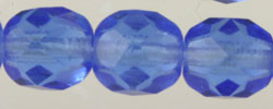Fire Polished Glass Beads 6mm - Sapphire