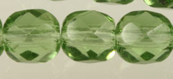 Fire Polished Glass Beads 6mm - Special Peacock Green