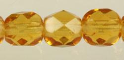 Fire Polished Glass Beads 6mm - Topaz