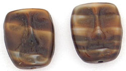 Dramatic Face Mask Glass Beads Chroust 13/11mm