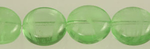 Glow In The Dark Glass Disc Beads - Peridot