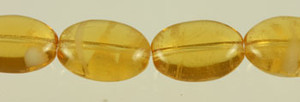 Glow In The Dark Glass Oval Beads - Topaz