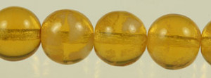 Glow In The Dark Glass Round Beads - Topaz