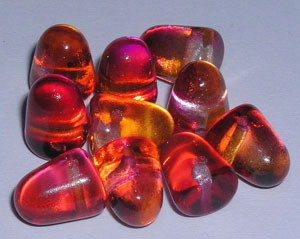 Glass Juicy Fruit Gumdrop Beads - 7 x 10mm