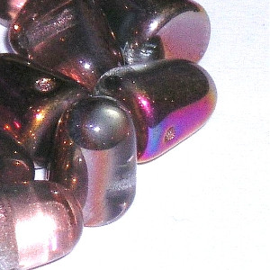 Glass Peach Melba Gumdrop Beads - 7 x 10mm