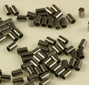 Gunmetal Crimp Tube Beads - 2 x 3mm