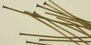 "Antique Brass Headpins - 2"" thicker"