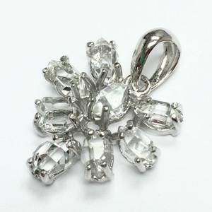 Herkimer Diamond Pendant in Sterling Silver AAA Grade