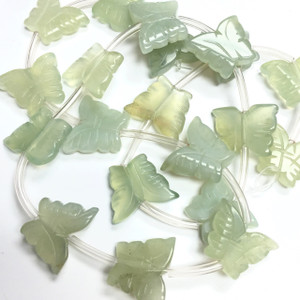 New Jade Carved Butterfly Beads
