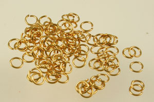 Gold Plated Jump Rings (Open)
