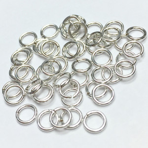 Sterling Silver Jump Rings (Open)-22 Gauge -4mm