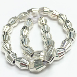 Sterling Silver Laser Bicone Beads