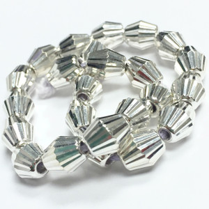 Sterling Laser Cut Bicone Beads