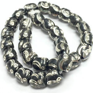 Antiqued Silver Machine Cut Beads