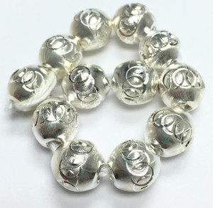 Sterling Silver Laser Cut Beads-8mm-8695