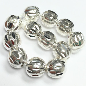 Sterling Silver Laser Cut Beads-8mm - 8696