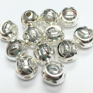 Sterling Silver Laser Cut Beads-8mm - 8697