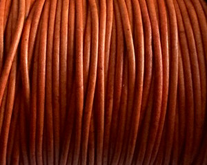 Leather Cord USA 2mm Natural Orange Round Leather