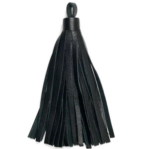 Leather Cord USA Black Large Nappa Leather Tassel