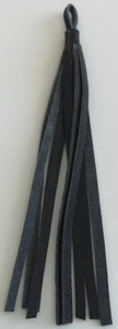Leather Cord USA Black Small Nappa Leather Tassel