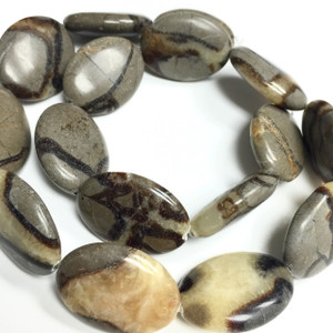 Natural Septaria Oval Beads