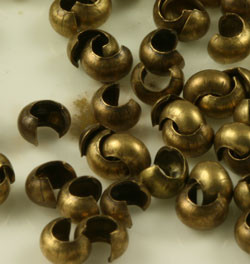Antiqued Brass Crimp Bead Covers