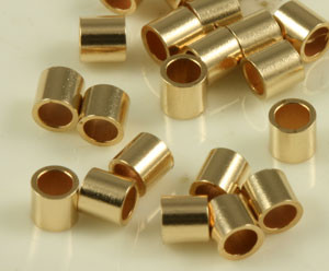 Gold Filled Crimp Tube Beads - 3mm