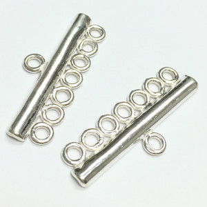 Sterling Silver 7 Strand Connectors-28 x 11mm