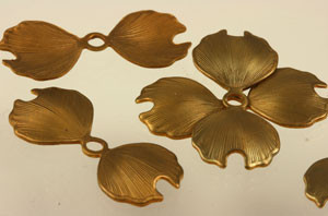 Vintage Brass Dogwood Flower Petals