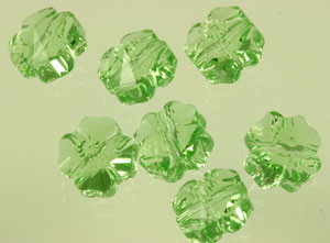 Swarovski Crystal Clover Bead - Peridot