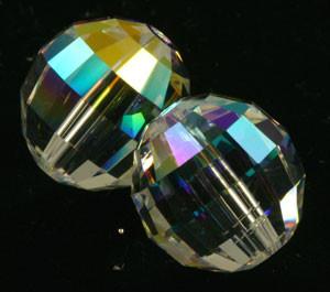 Swarovski Crystalized Beads Art # 5005-Chessboard Bead-Crystal AB-12mm