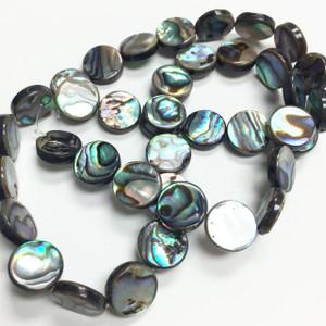 Abalone Flat Disc Beads