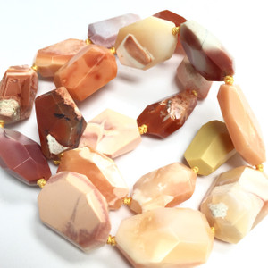Free Form Faceted Mexican Fire Opal Bead-16mm avg.size