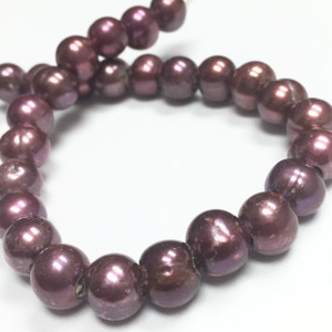 Large Holed Freshwater Pearls - Rich Rose 8-8.5mm