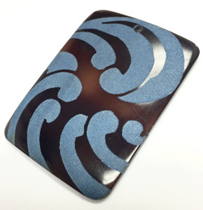 Genuine Lilypilly Waves Pendant-Blue on Black Lip-CLOSEOUT BLOWOUT! Shell-