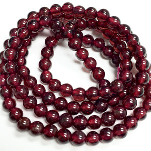 Highly Polished Garnet Rounds -3.5-4mm