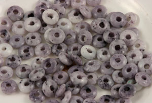 Vintage Czech Glass Cinter Rondell Beads-Purple
