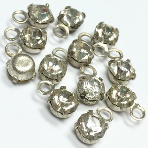 Vintage Swarovki Crystal Rhodium Drop Jewels-Crystal