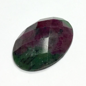 Ruby Zoisite Faceted Oval Cabochon 18 x 25mm AAA