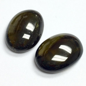 Smokey Green Tourmaline Oval Cabochons 10 x 14mm