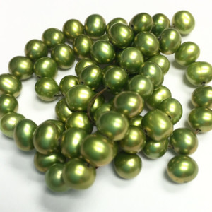 Lime Green Freshwater Potato Pearl Beads