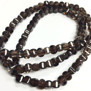 Smokey Quartz Lantern Beads 4mm