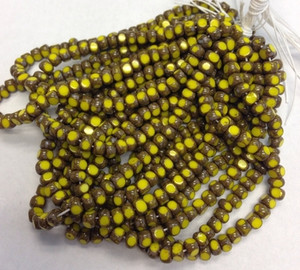 Yellow Picasso 3-Cut Seed Beads - 6/0 size Limited Supply!!!