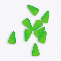 Mini Spike Czech Glass Beads 5 x 8mm - Neon Green