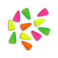 Mini Spike Czech Glass Beads 5 x 8mm - Neon Mix