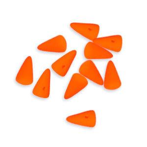 Mini Spike Czech Glass Beads 5 x 8mm - Neon Orange