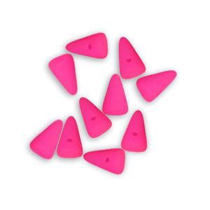 Mini Spike Czech Glass Beads 5 x 8mm - Neon Pink