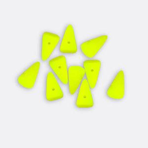 Mini Spike Czech Glass Beads 5 x 8mm - Neon Yellow