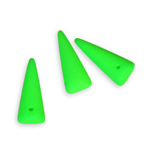 Spike Czech Glass Beads 7 x 17mm - Neon Green